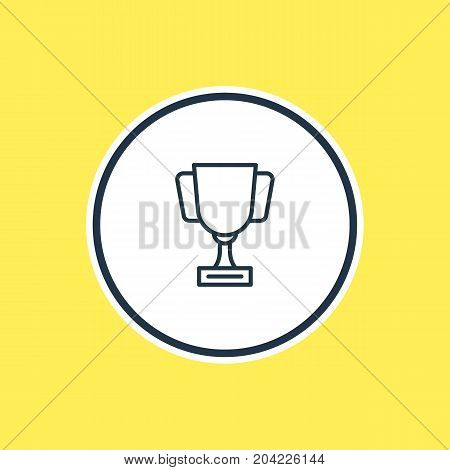 Beautiful Fitness Element Also Can Be Used As Goblet Element.  Vector Illustration Of Championship Outline.
