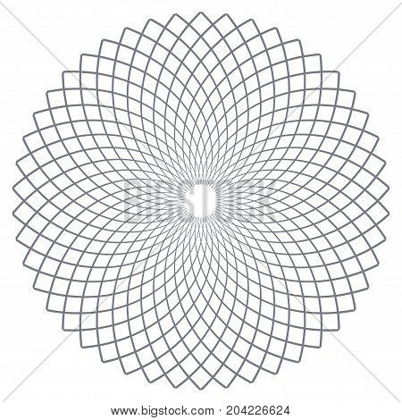 Circle design element. Rotation circular lines pattern. Vector art.