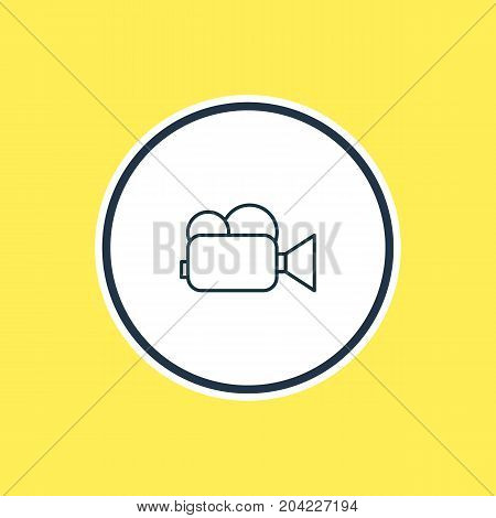 Beautiful Hardware Element Also Can Be Used As Camcorder Element.  Vector Illustration Of Video Camera Outline.