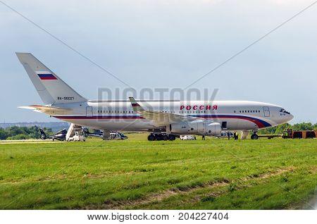 Ilyushin Il-96-300 Of The Russia State Transport Company. Russian Knights Demonstration Flights. Rus