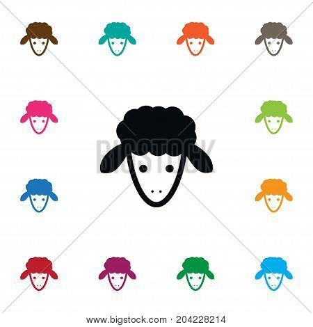 Flock Vector Element Can Be Used For Goat, Calf, Sheep Design Concept.  Isolated Goat Icon.