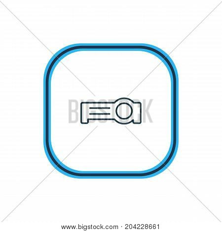 Beautiful Accessory Element Also Can Be Used As Floodlight Element.  Vector Illustration Of Projector Outline.