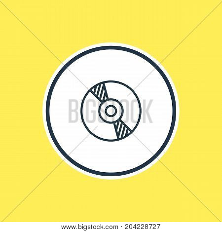 Beautiful Party Element Also Can Be Used As Compact Disk Element.  Vector Illustration Of Cd Outline.