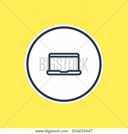 Beautiful Leisure Element Also Can Be Used As Notebook Element.  Vector Illustration Of Laptop Outline.