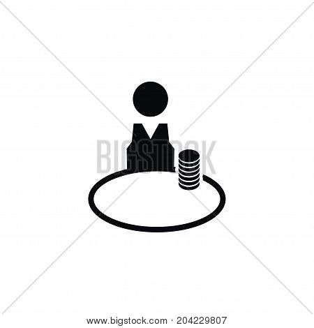 Steward Vector Element Can Be Used For Steward, Chips, Croupier Design Concept.  Isolated Chipper Icon.