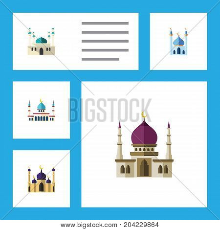 Flat Icon Minaret Set Of Islam, Architecture, Structure And Other Vector Objects