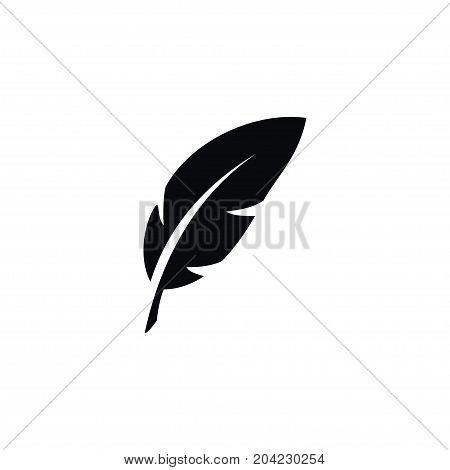 Plume Vector Element Can Be Used For Nib, Feather, Pen Design Concept.  Isolated Nib Icon.