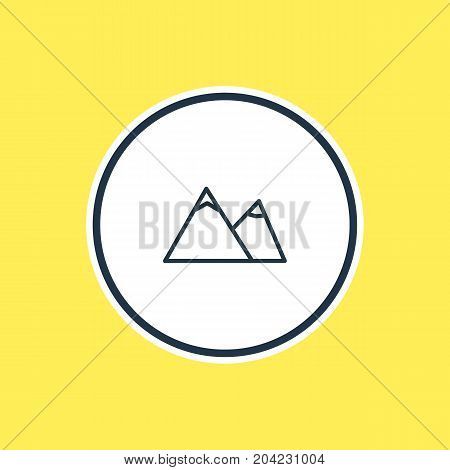 Beautiful Summer Element Also Can Be Used As Hill  Element.  Vector Illustration Of Mountain Outline.