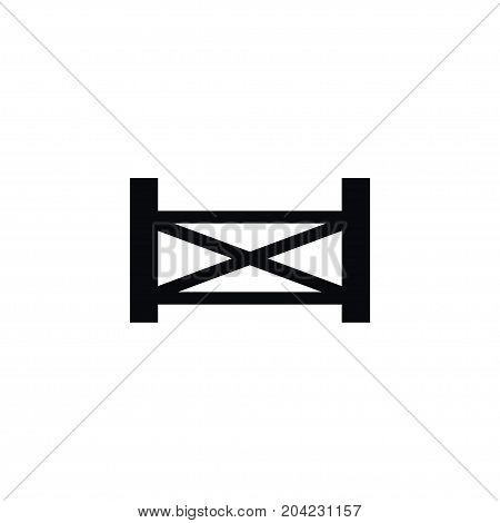 Defense Vector Element Can Be Used For Plank, Defense, Fence Design Concept.  Isolated Plank Icon.