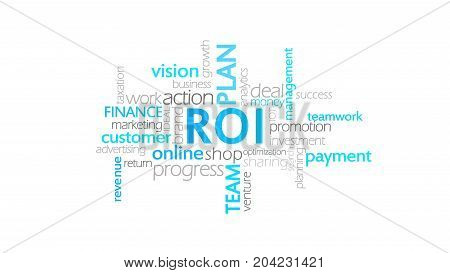 Roi, Return On Investment, Word Cloud Concept Illustration