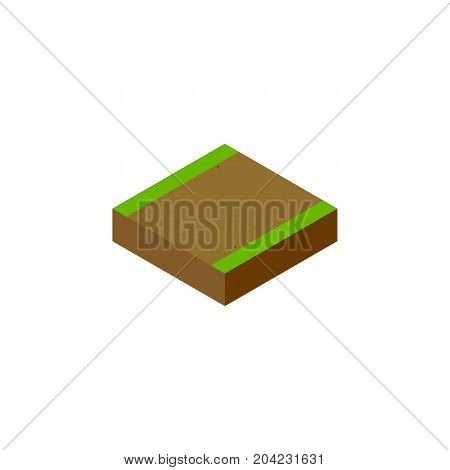 Footpath Vector Element Can Be Used For Footpath, Highway, Road Design Concept.  Isolated Highway Isometric.