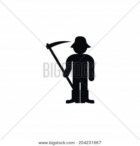 Farmer Vector Element Can Be Used For Person, Ploughman, Farmer Design Concept.  Isolated Ploughman Icon.