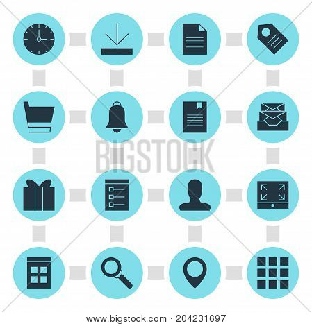 Editable Pack Of Document, Upload, Coupon And Other Elements.  Vector Illustration Of 16 Web Icons.