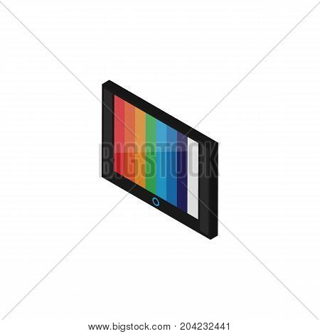 Television Vector Element Can Be Used For Tv, Television, Device Design Concept.  Isolated Wall Tv Isometric.