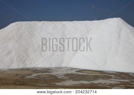 Salt Production at Marsala on Sicily. Italy