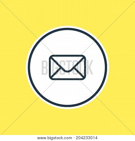 Beautiful App Element Also Can Be Used As Letter Element.  Vector Illustration Of Mail Outline.