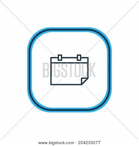 Beautiful Science Element Also Can Be Used As Date  Element.  Vector Illustration Of Calendar Outline.
