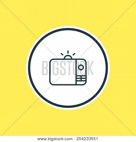 Beautiful Advertising Element Also Can Be Used As Television Element.  Vector Illustration Of Tv Outline.