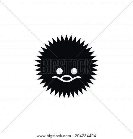 Needley Vector Element Can Be Used For Needley, Hedgehog, Urchin Design Concept.  Isolated Urchin Icon.