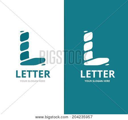 Unique vector letter L logo design template.