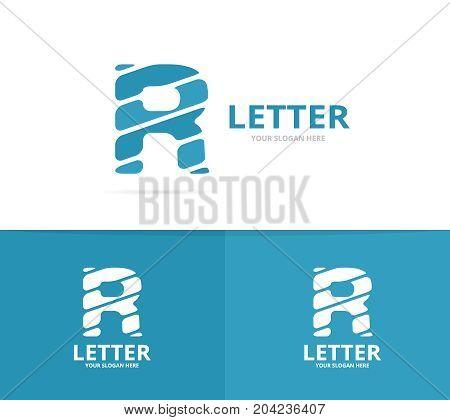 Unique vector letter R logo design template.