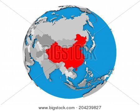 China On Globe Isolated