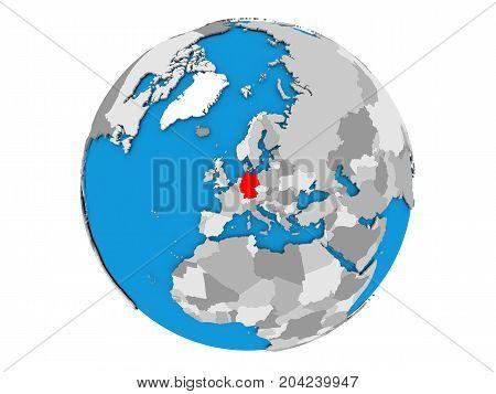Germany On Globe Isolated