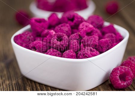 Portion Of Dried Raspberries
