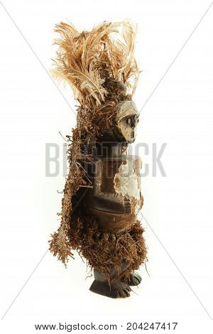 Spooky Voodoo Doll Isolated On White Background
