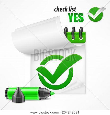 Checkmark On Checklist