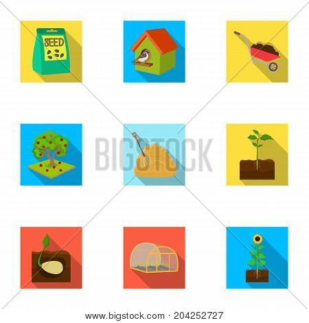 farm, garden, nature and other web icon in flat style.
