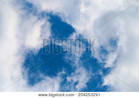 Photo of sunny beautiful sky with clouds