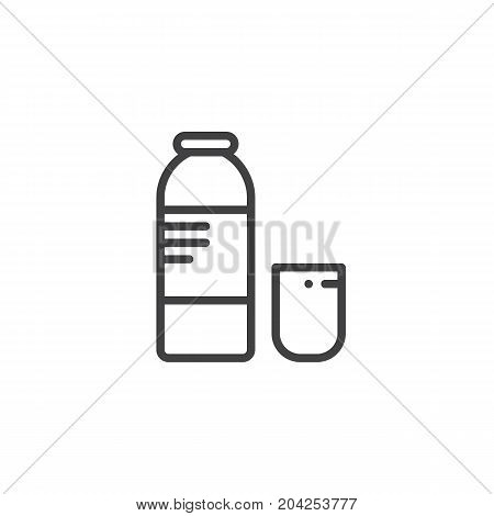 Syrup medicine line icon, outline vector sign, linear style pictogram isolated on white. Symbol, logo illustration. Editable stroke