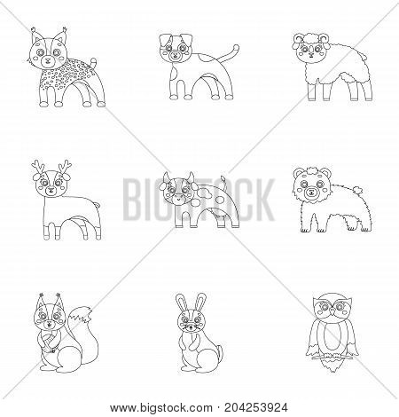 Farm, zoo, ecology and other  icon in outline style.Australia, nature, toys, Australia, nature, toys,