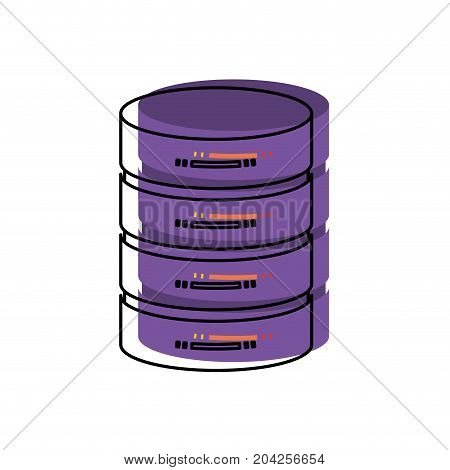 server hosting storage icon in watercolor vector illustration