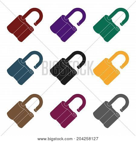 Padlock hacked. The challenge for the Pathfinder to solve the crime.Detective single icon in blake style vector symbol stock web illustration.