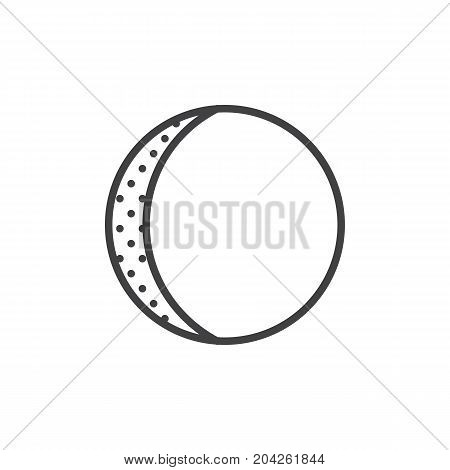 Waxing gibbous line icon, outline vector sign, linear style pictogram isolated on white. Astrology symbol, logo illustration. Editable stroke.