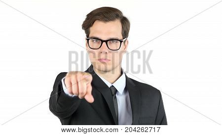 Business Offer, Partnership , Businessman Pointing At You , Camera
