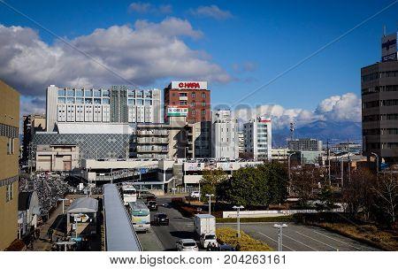 Cityscape Of Nagano, Japan