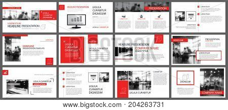 Red and white element for slide infographic on background. Presentation template. Use for business annual report flyer corporate marketing leaflet advertising brochure modern style.
