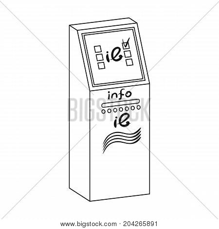 Information terminal. Terminals single icon in outline style isometric vector symbol stock illustration .