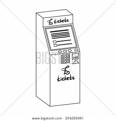 Terminal for ticket sales. Terminals single icon in outline style isometric vector symbol stock illustration .