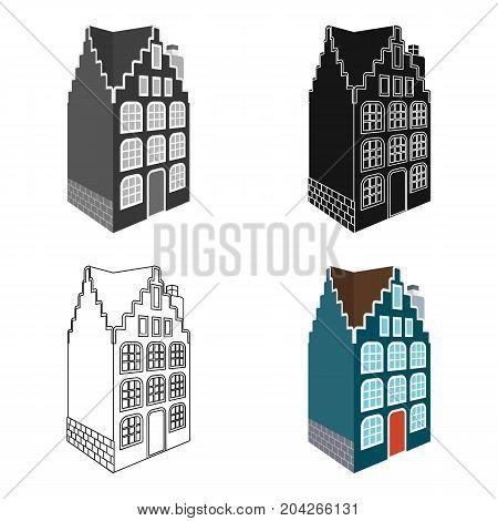 Traditional Scandinavian building. Architecture of the house single icon in cartoon style vector symbol stock illustration .