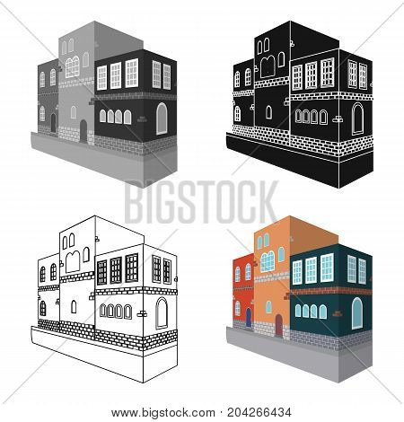 Typical Scandinavian building. Architectural construction single icon in cartoon style vector symbol stock illustration .