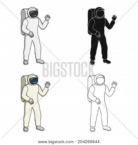 Cosmic space suit. Space technology single icon in cartoon style vector symbol stock illustration .