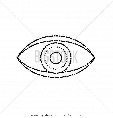 dotted shape eye human anaomy to optical graphic vector illustration