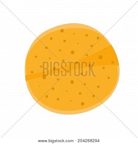 Flat colorful mexican tortilla icon vector chip symbol pancake. Round tortillas sign for restaurant menu frame for text print background