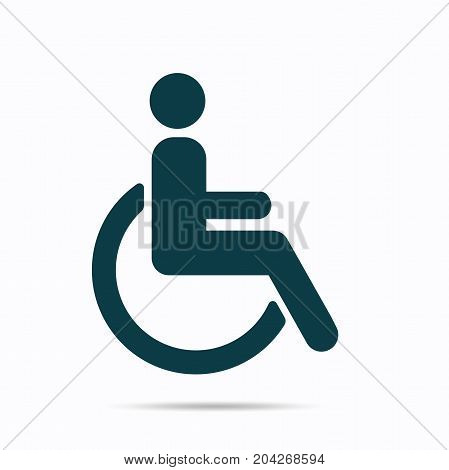 Disabled icon, Vector illustration isolated on white background