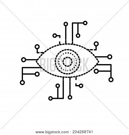 dotted shape visual technology connect in the cyberspace structure vector illustration