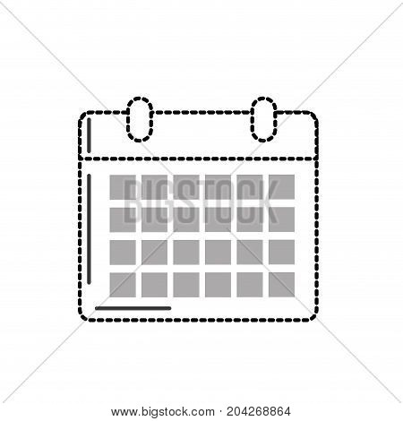 dotted shape calendar to organizar important events vector illustration